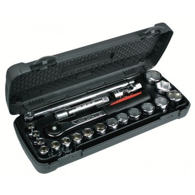 """Assortimento con bussole esagonali, cricchetto e accessori 605 1/2"""" EA"""