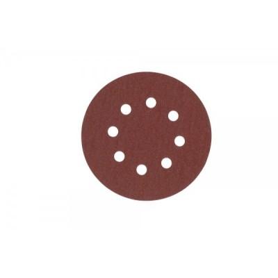 Carta abrasiva forata con Velcro® (8 fori) d.125mm gr.80