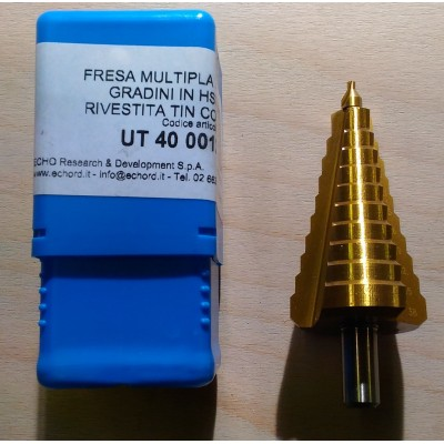 FRESA MULTIPLA A GRADINI IN HSS RIVESTITA TIN 2.5-38mm