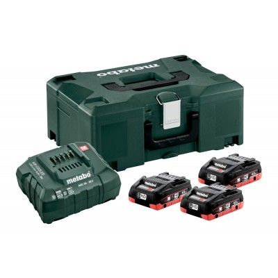 BATTERIE METABO SET BASE 3 X LIHD 4,0 AH + METALOC