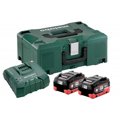 BATTERIE METABO SET BASE 2 X LIHD 8,0 AH+ ASC ULTRA + METALOC