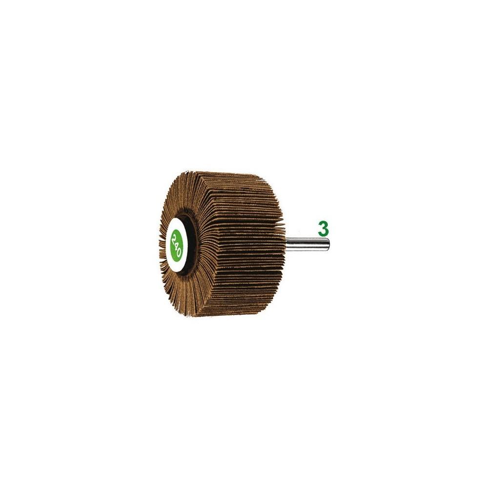 SPAZZOLE ROTATIVE LAMELLARI 10x10 gr 80 codolo 3mm