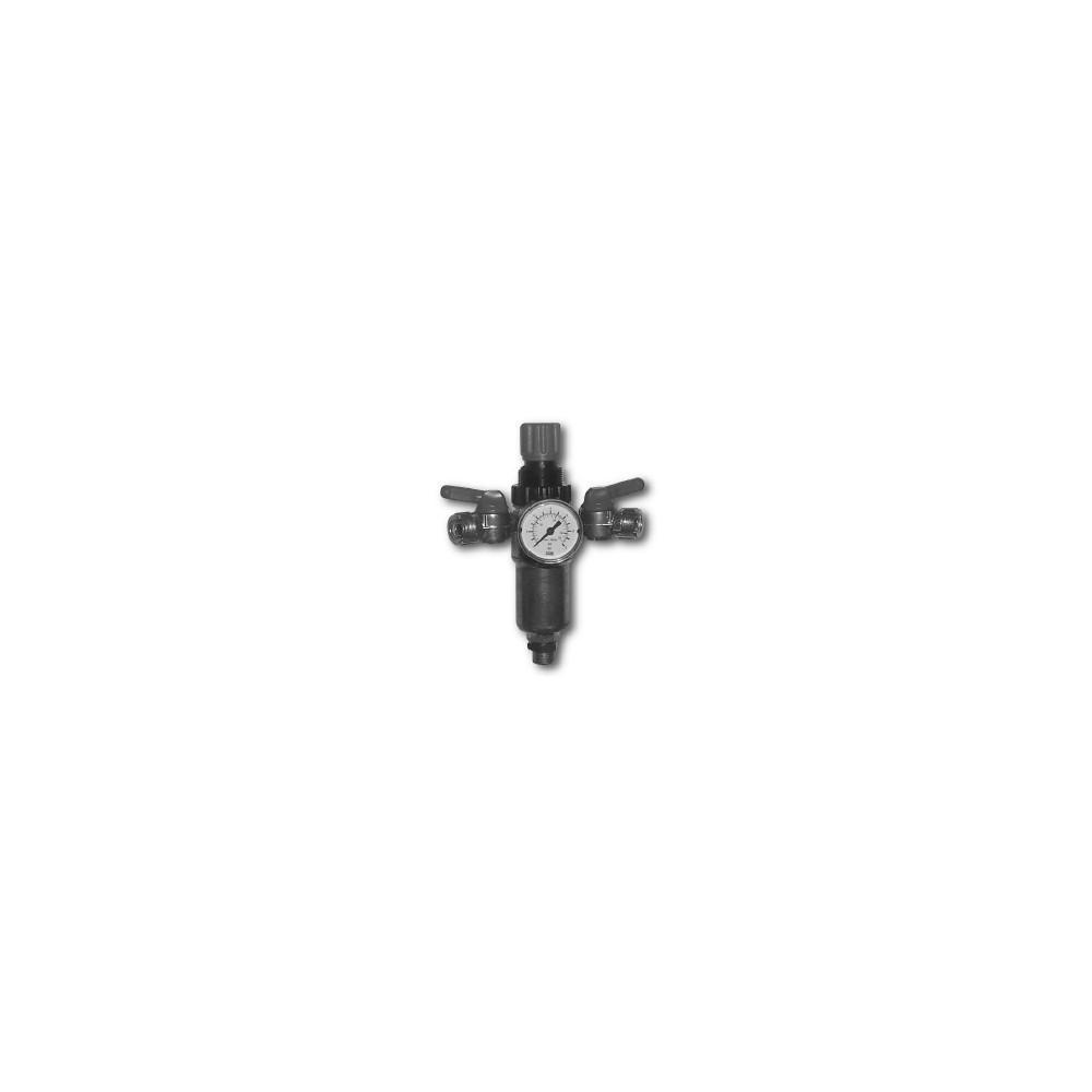 Regolatore di pressione 3/8 con filtro e manometro