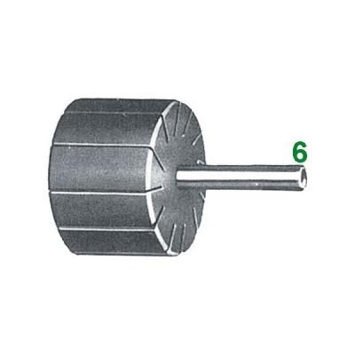 Supporti per anelli di tela abrasiva 25x25 gambo 6
