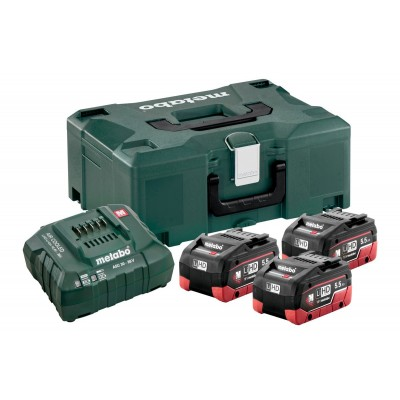 BATTERIE METABO SET DI BASE 3 X LIHD 5,5 AH + METALOC